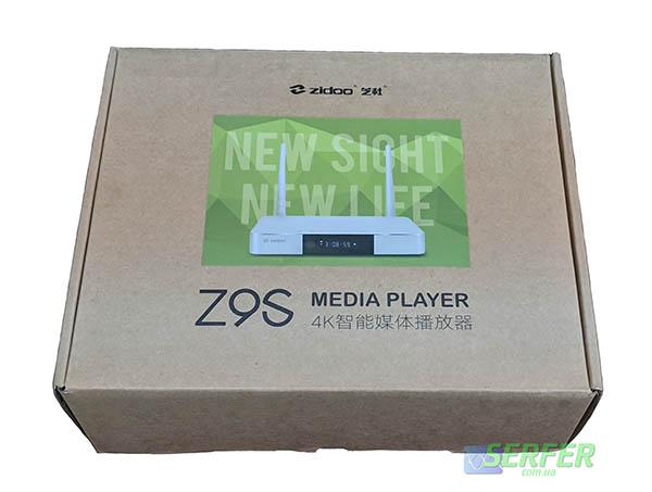 Z9S Zidoo коробка, фото