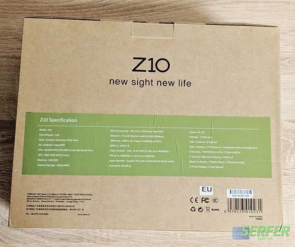 низ коробки Zidoo Z10 фото