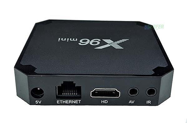 Вид сзади tv box X96