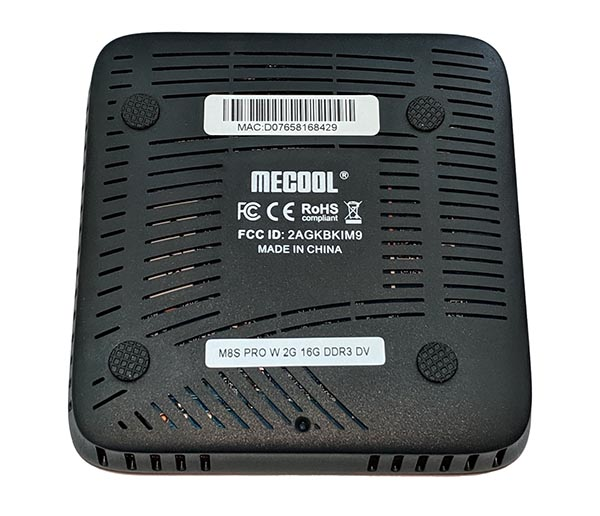 вентиляция Mecool Pro W M8S приставки wifi
