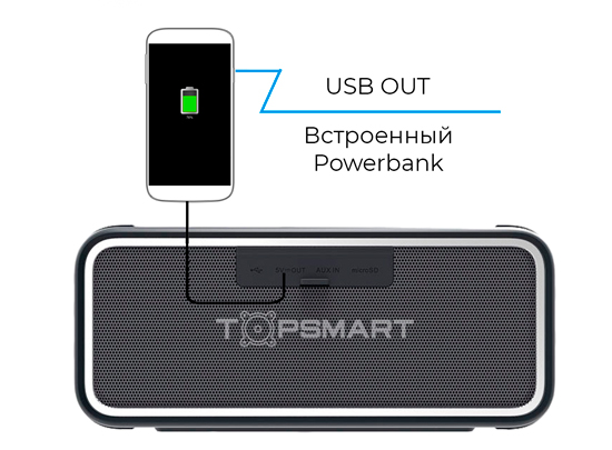 Блютуз колонка с powerbank фото