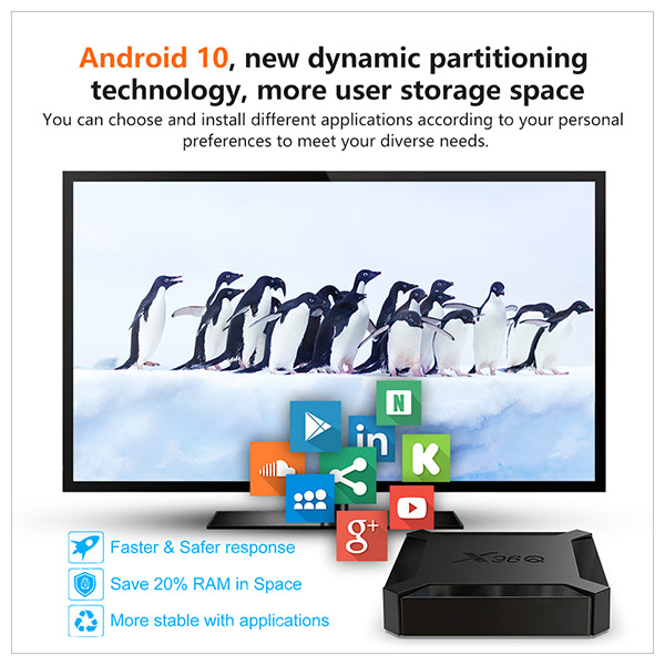 Android 10 tv box X96Q